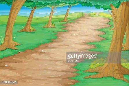 Forest clipart forest path. Premium clipartlogo com