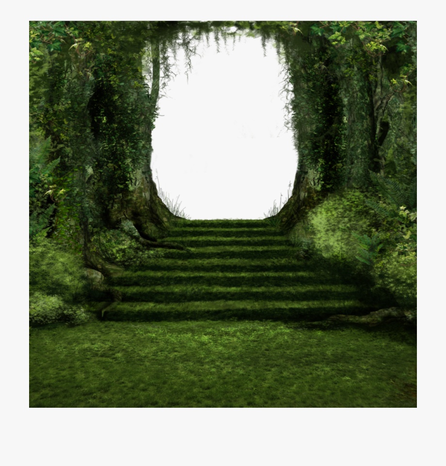 Hut clipart forest. Wood stairs grass path
