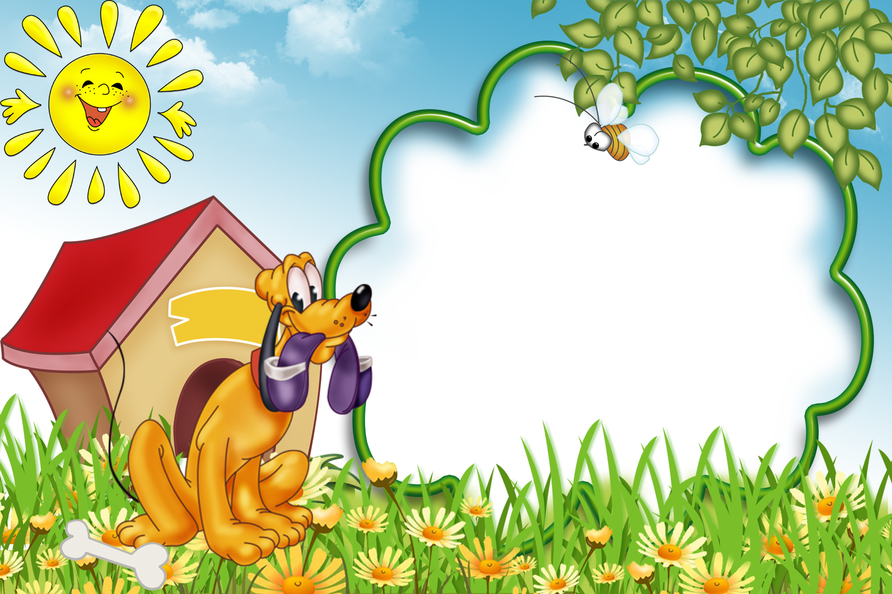 Frame clipart forest. Kids transparent photo with