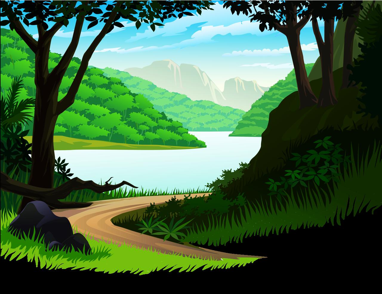 Jungle clipart jungle landscape. Pin by haswan sutanto