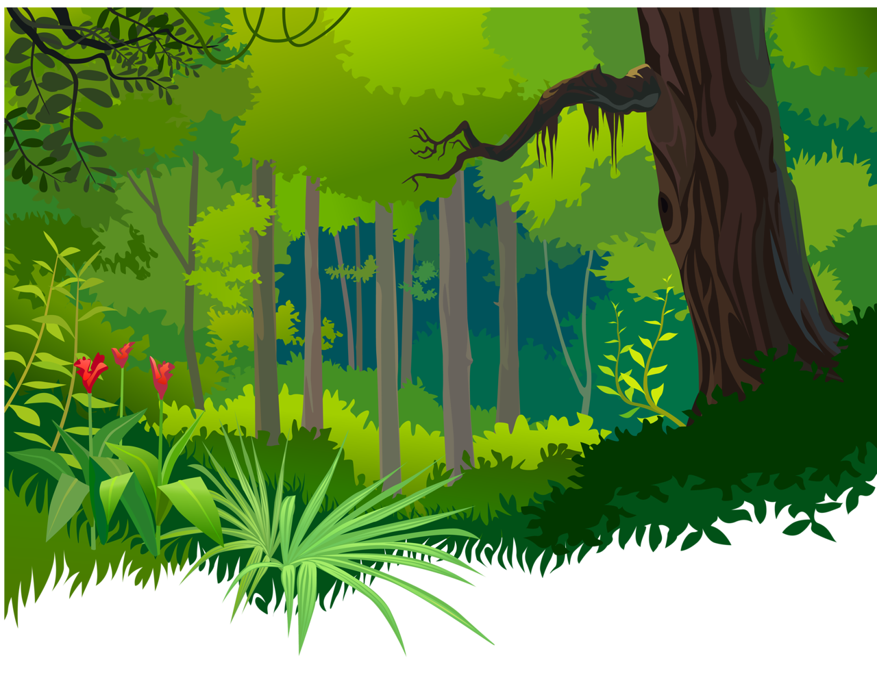 Lake clipart jungle. Pin by thalie saby