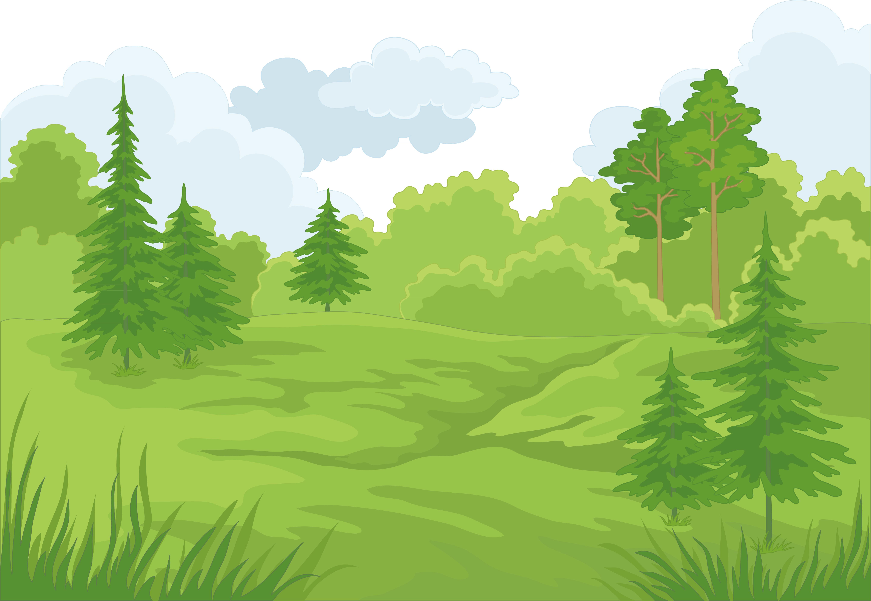 Landscaping kiwi tree frames. Clipart forest landscape