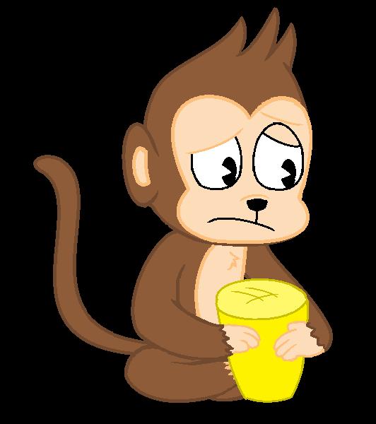 Woodland clipart sad. Monkey request a feryeldell