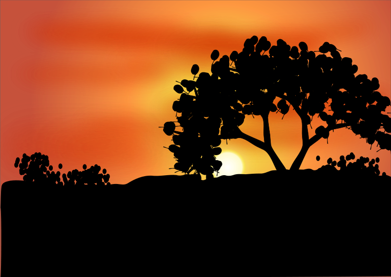 Sunset clipart road sunset. Dawn panda free images