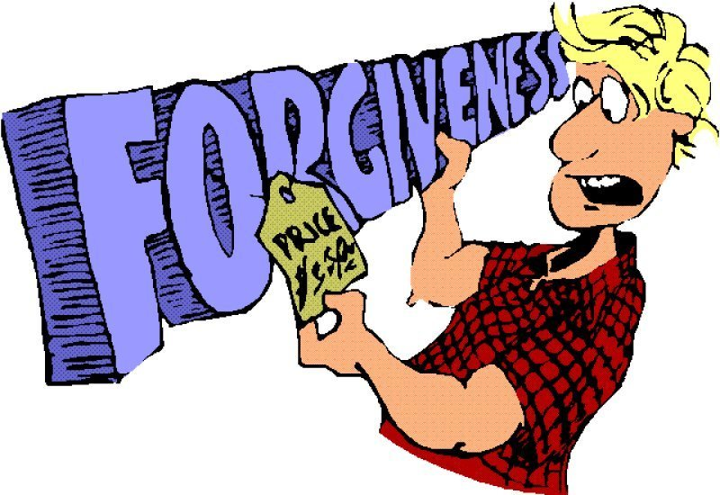 Forgiven the other loan. Forgiveness clipart