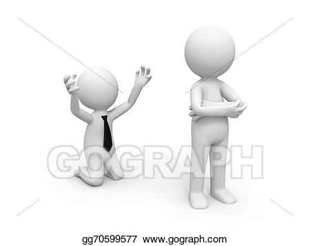 Stock illustration begging gg. Forgiveness clipart beg