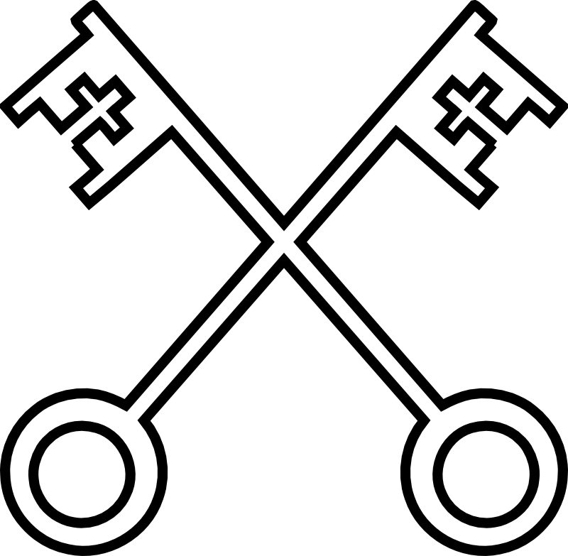 Keys clipart church. Catholic symbols panda free