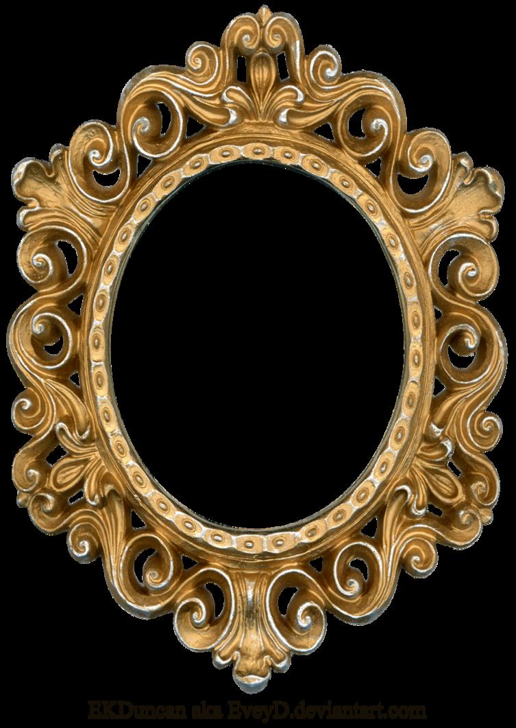 Vintage gold frame png. Morning has broken june