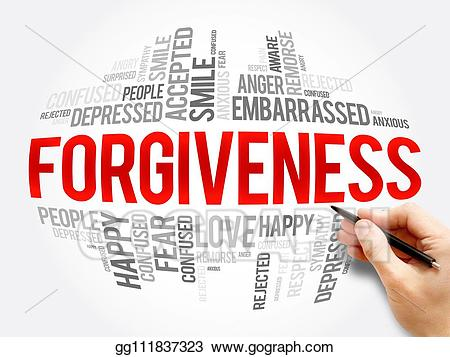 Drawing word cloud collage. Forgiveness clipart peace conflict