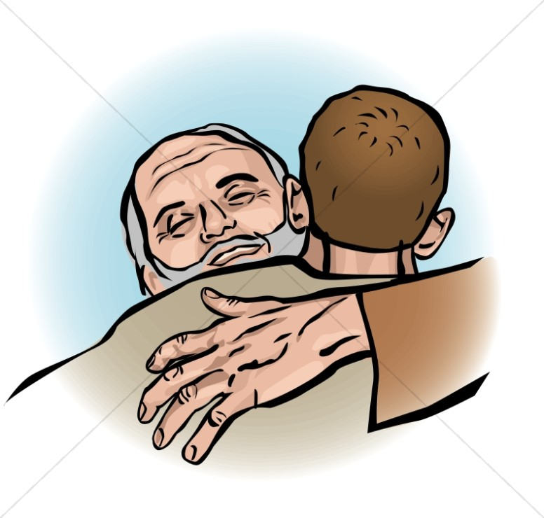 Father welcomes prodigal new. God clipart son clipart