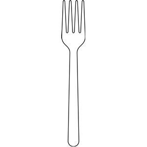Clip art look at. White clipart fork