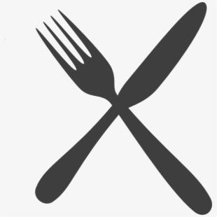 Fork clipart crossed fork. Transparent