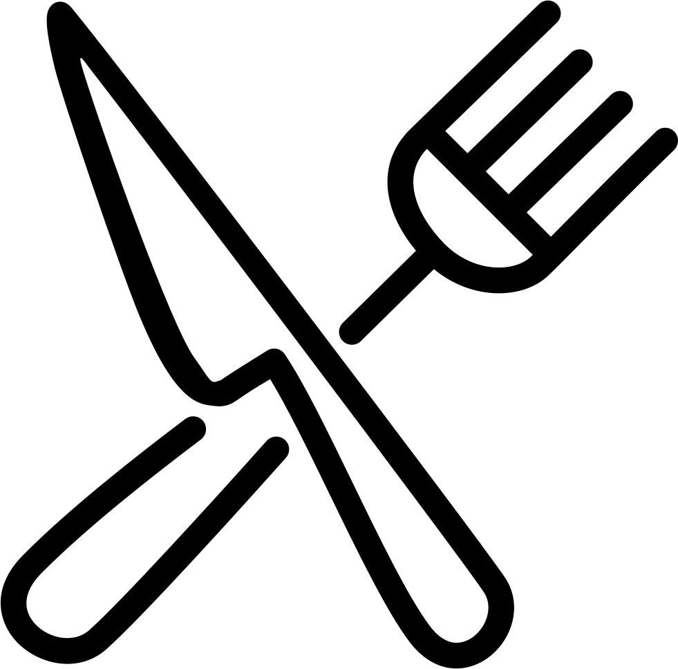 And svg png icon. Knife clipart crossed fork