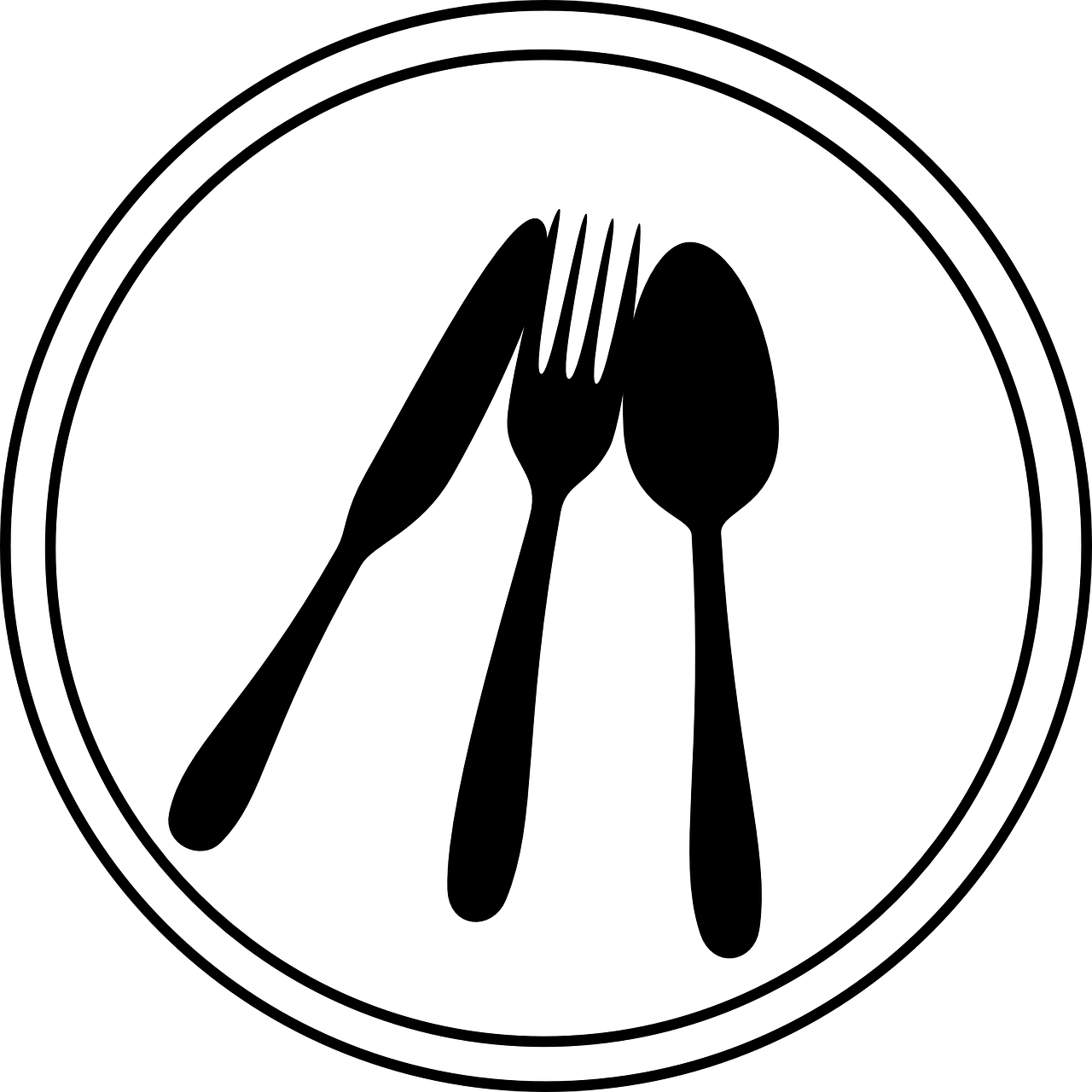Place setting connecting proper. Fork clipart dining