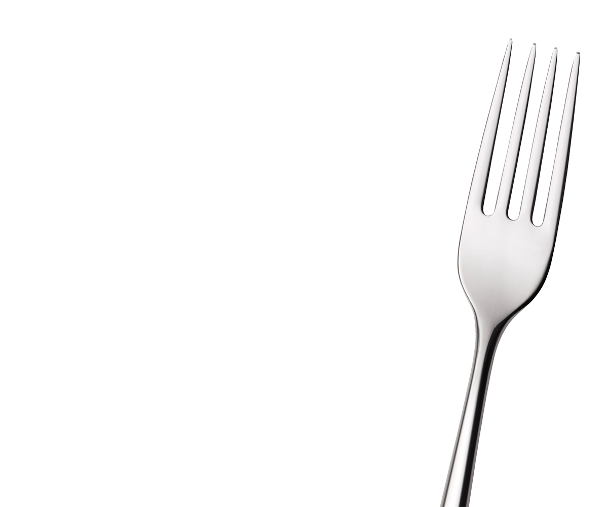 Nine isolated stock photo. Fork clipart holding