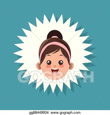 Vector happy kid and. Fork clipart holding