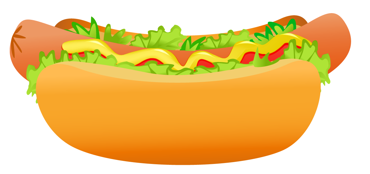Hot dog at getdrawings. Hotdog clipart plain cheeseburger