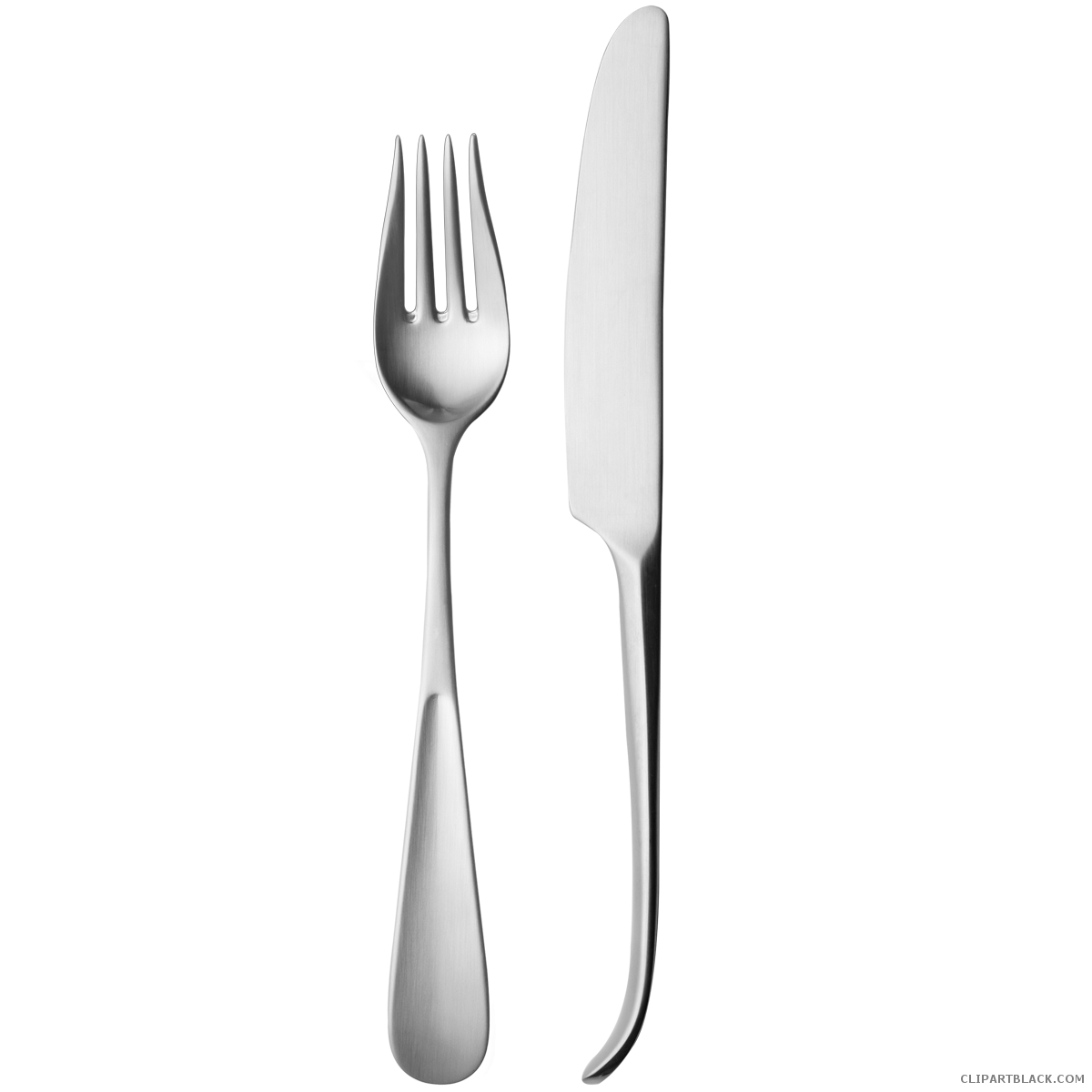 And knife clipartblack com. White clipart fork