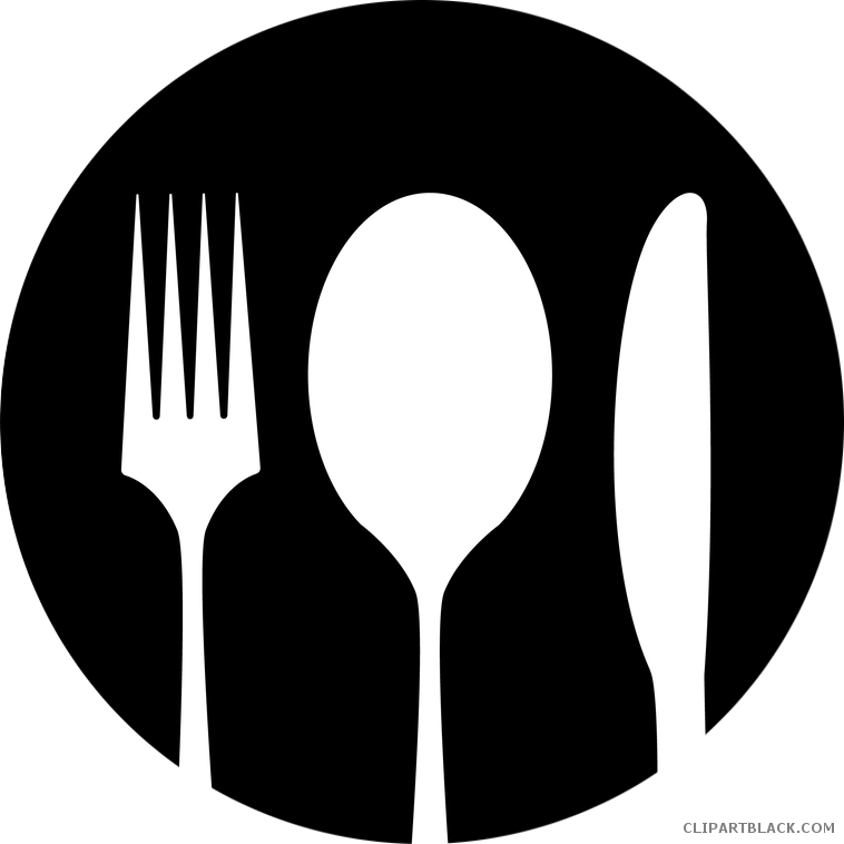 White clipart spoon. Knife page of clipartblack