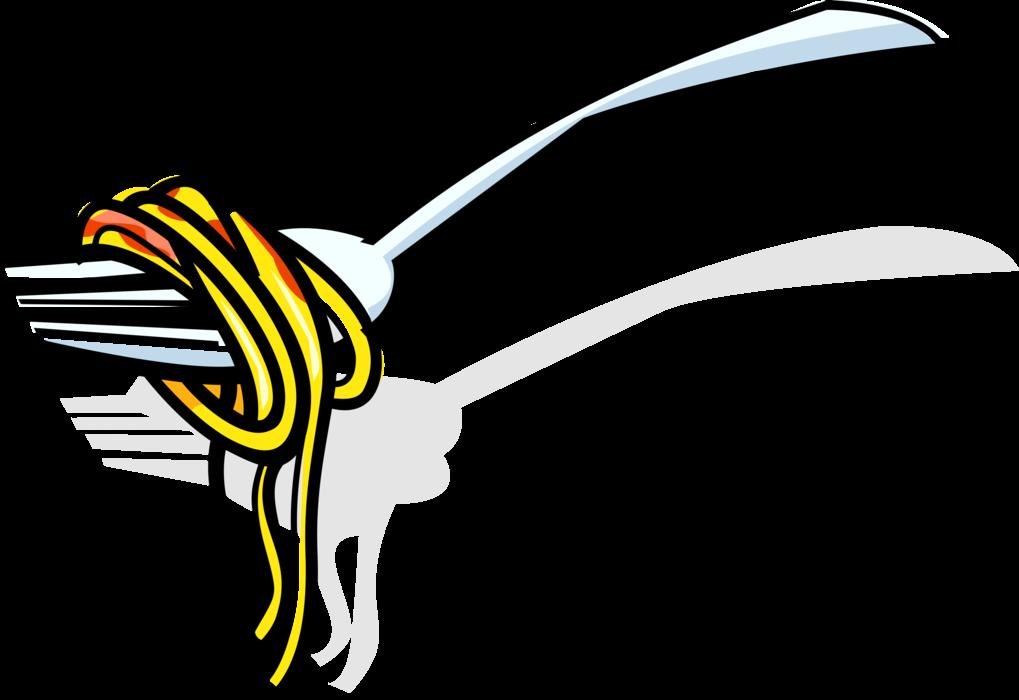 Italian vector image illustration. Pasta clipart spaghetti