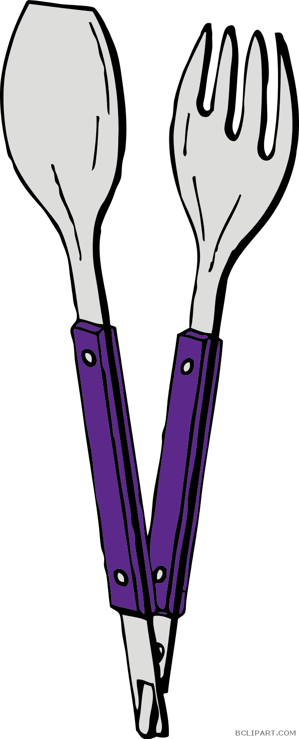Purple clipart fork. And spoon bclipart tools