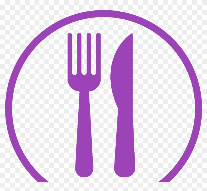 Subscribe to our mailing. Purple clipart fork