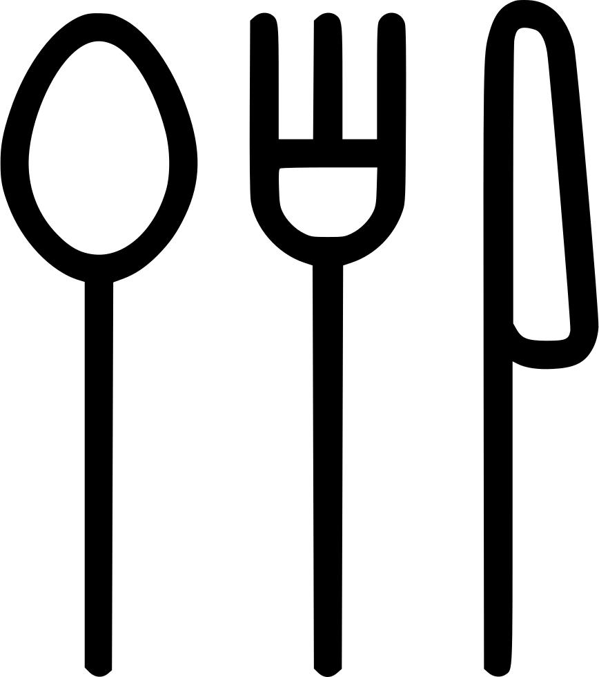 Eating knife svg png. Fork clipart spoon fork logo