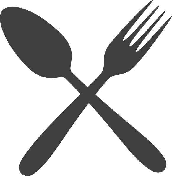 Gray clip art at. Knife clipart silverware plate