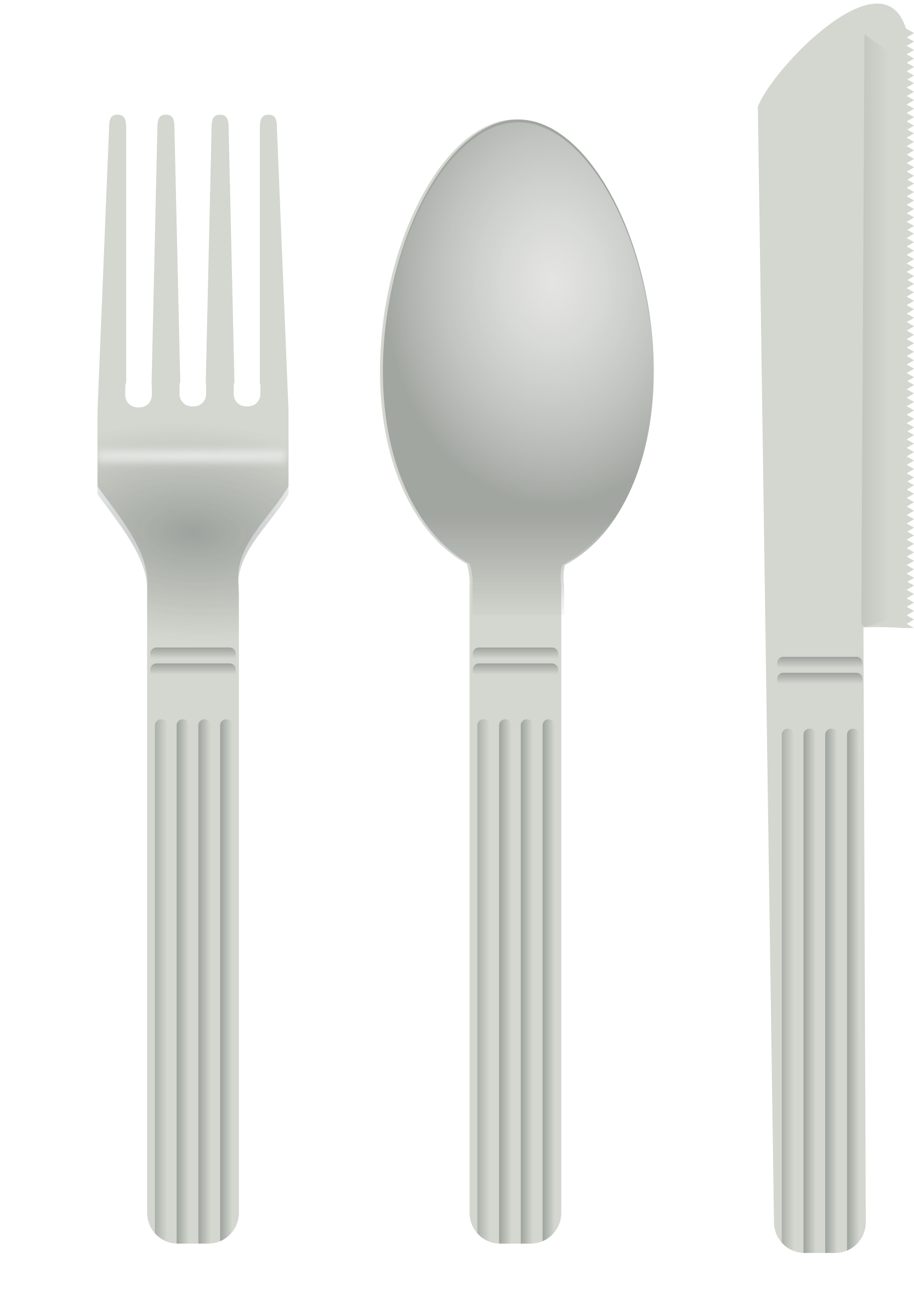 White clipart fork. And spoon big image