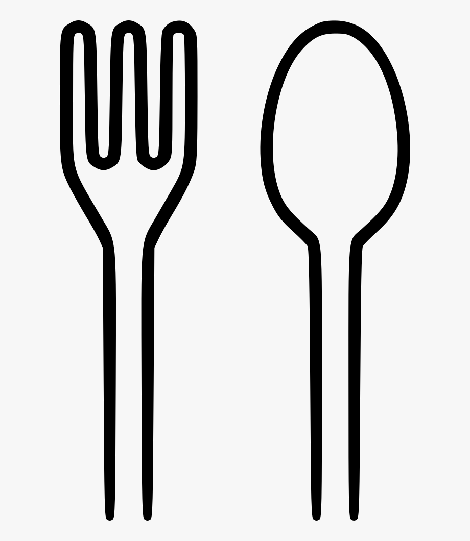 Spoon png and black. Fork clipart sppon