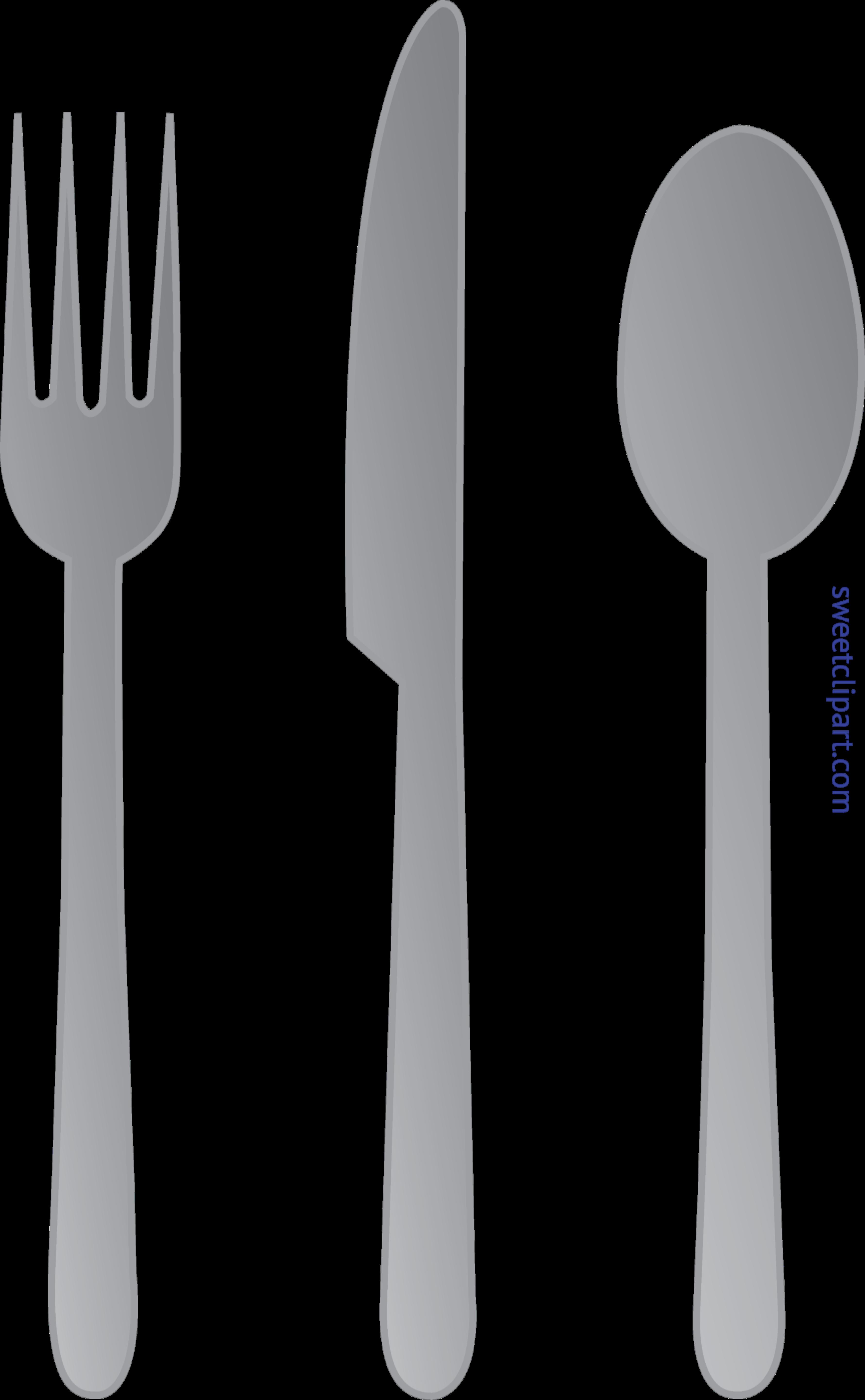 White clipart fork. Knife spoon clip art