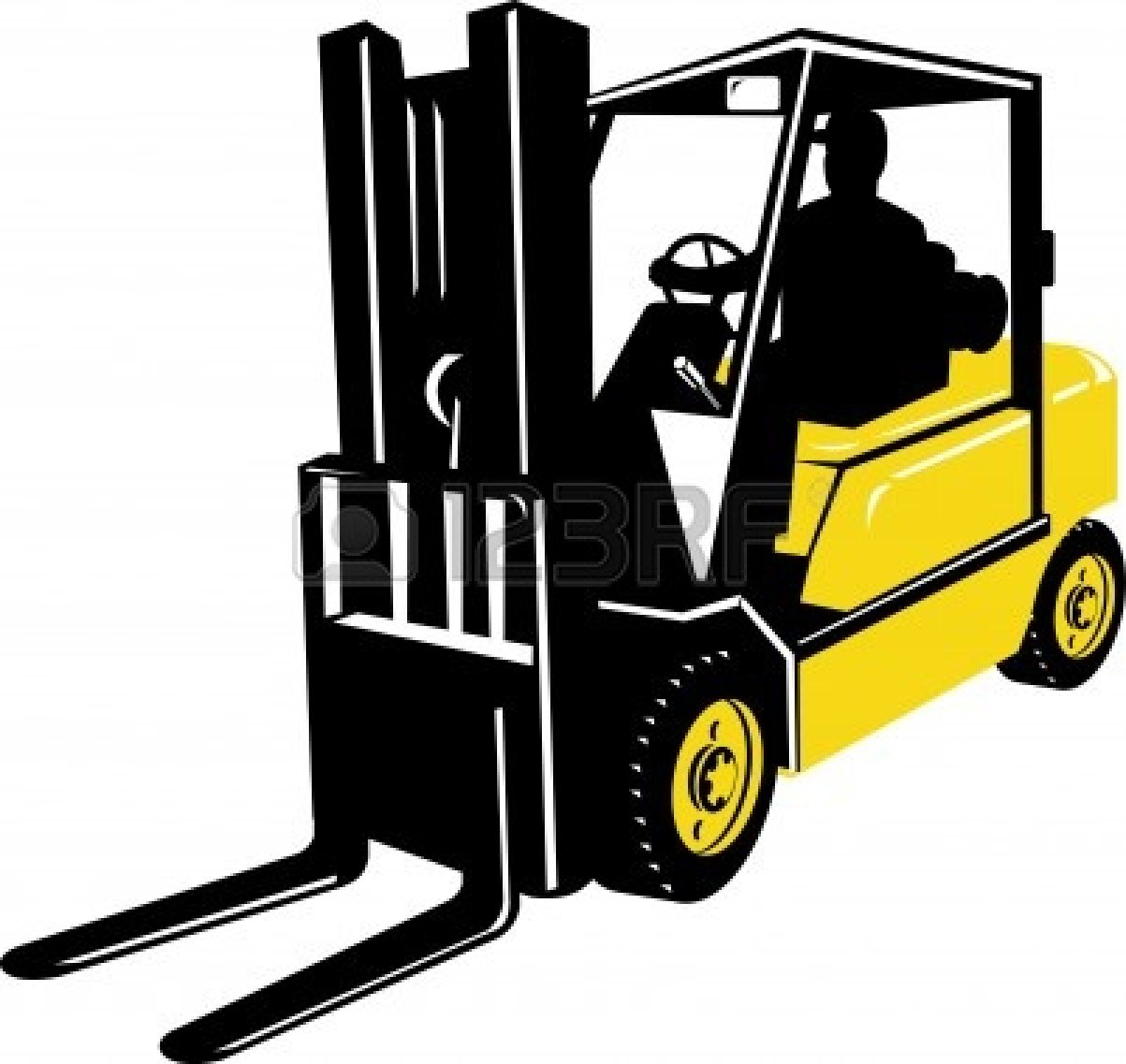 Forklift clipart. Driver