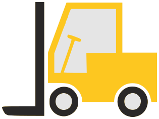 Basic working vehicles png. Forklift clipart