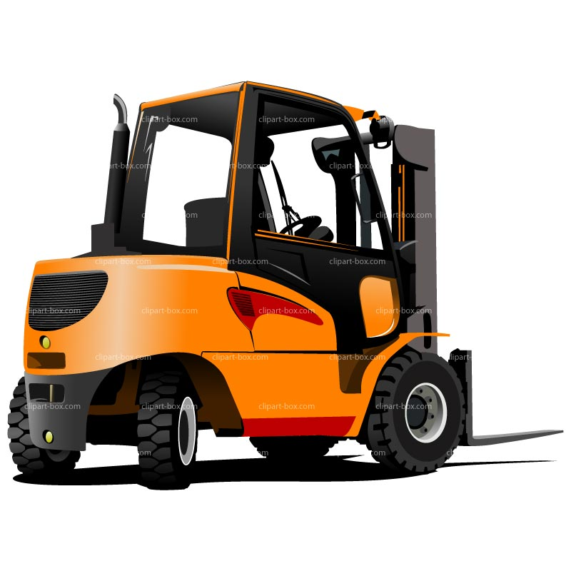 Forklift clipart. Free