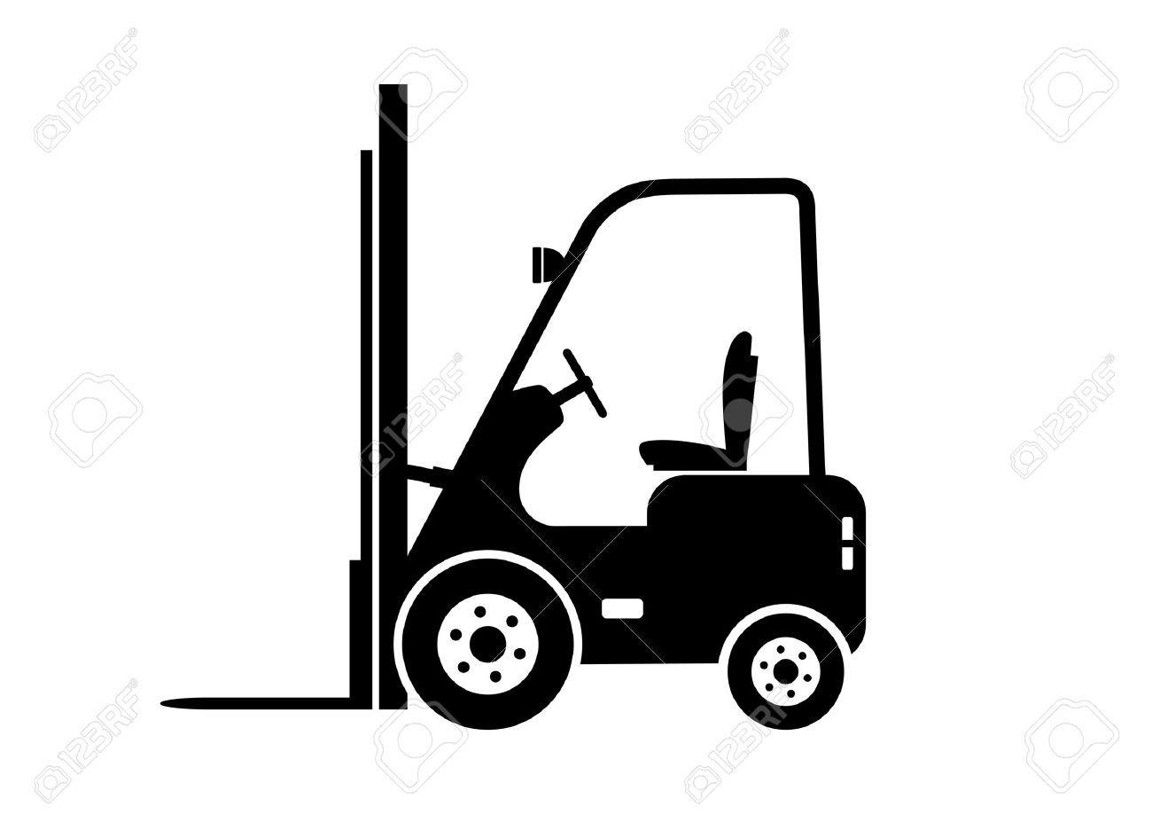 Forklift clipart black and white. Portal