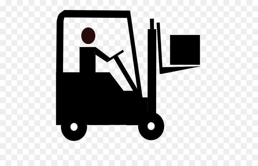 Technology background transparent clip. Forklift clipart black and white