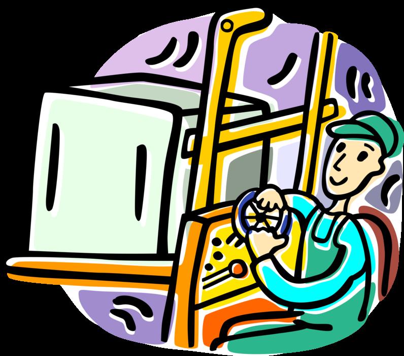 Forklift forklift operator