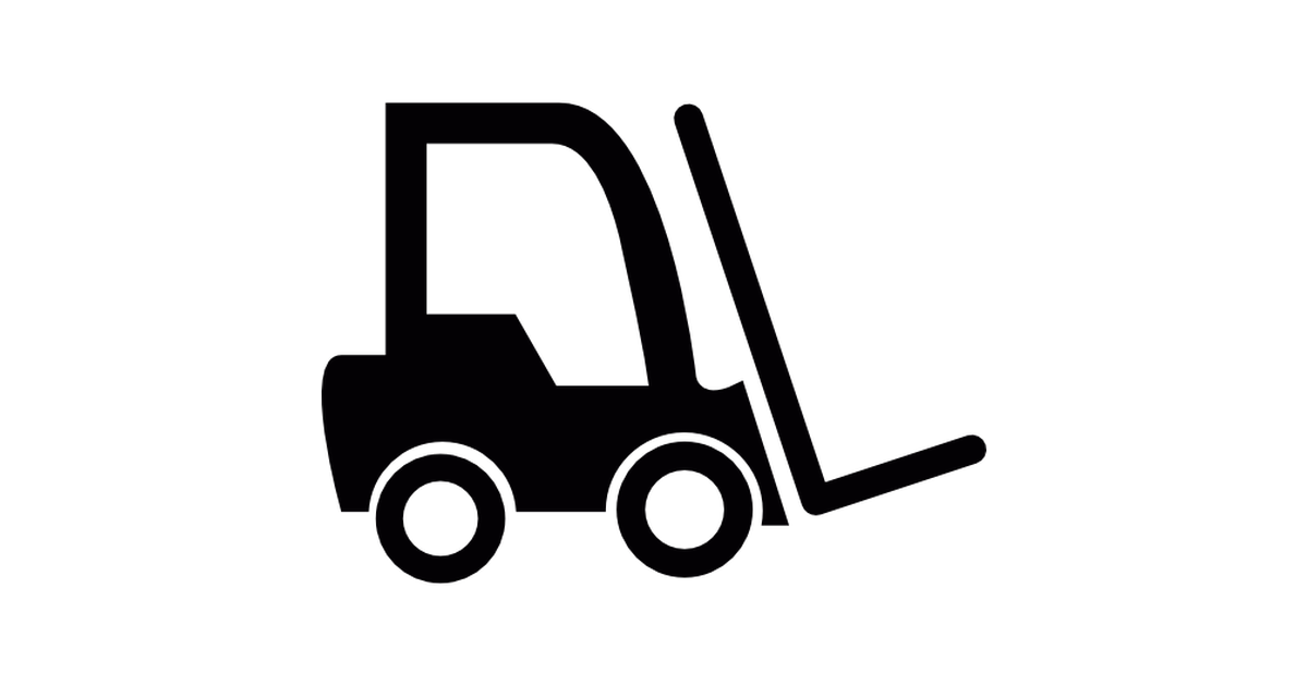 Truck free transport icons. Forklift clipart top view