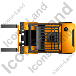 Truck yellow icon png. Forklift clipart top view