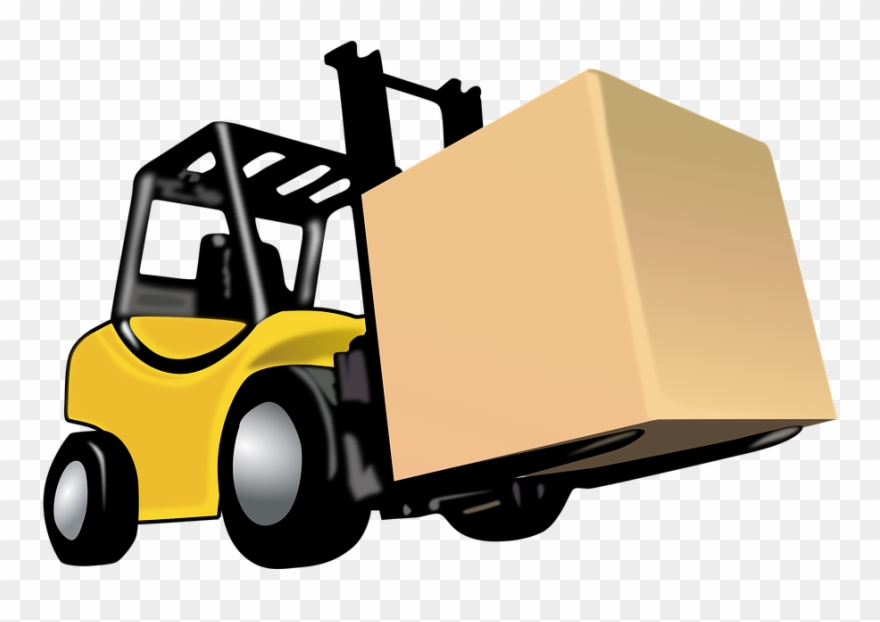 Drawing pinclipart . Forklift clipart top view