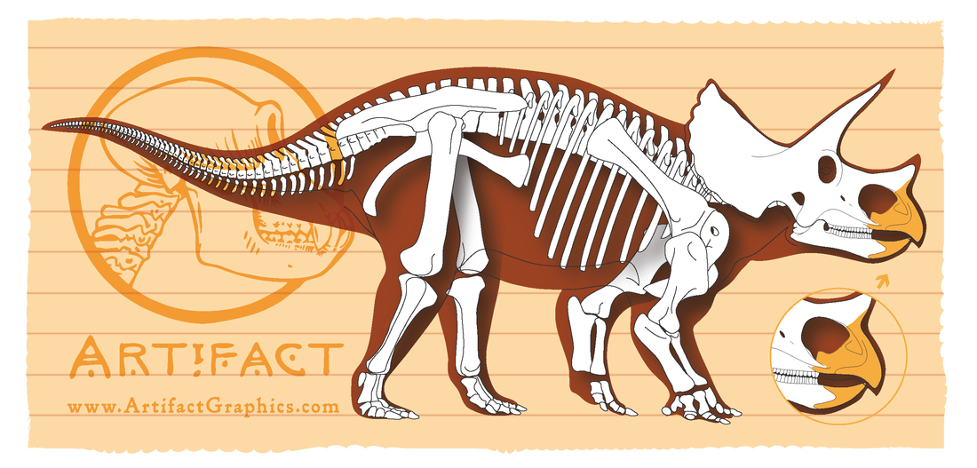 Fossil clipart dinosaur bone. Artifact graphics blog one
