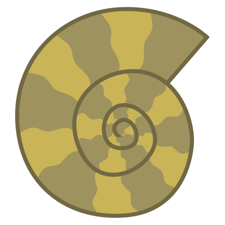 Shell clipart fossil. Digger cutie mark by