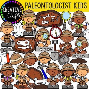 Geology clipart paleontologist tool. Kids creative clips