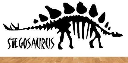 Bestpriceddecals dinosaur wall decal. Fossil clipart stegosaurus