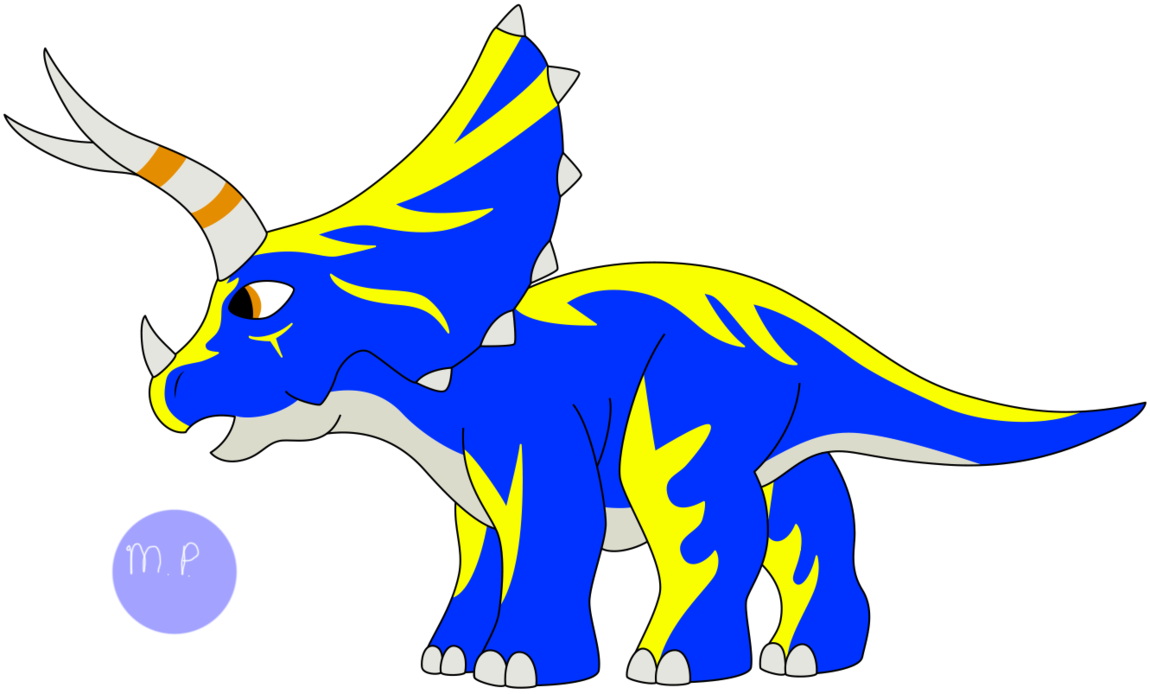 Fossil clipart t rex fossil. Fighters frontier tricera by
