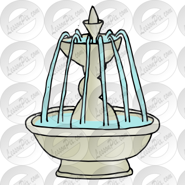 Picture for classroom therapy. Fountain clipart