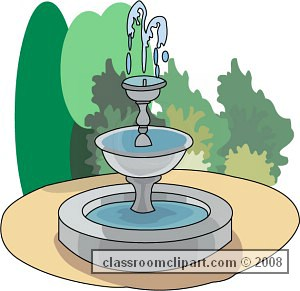 Outdoors b classroom bjpg. Fountain clipart