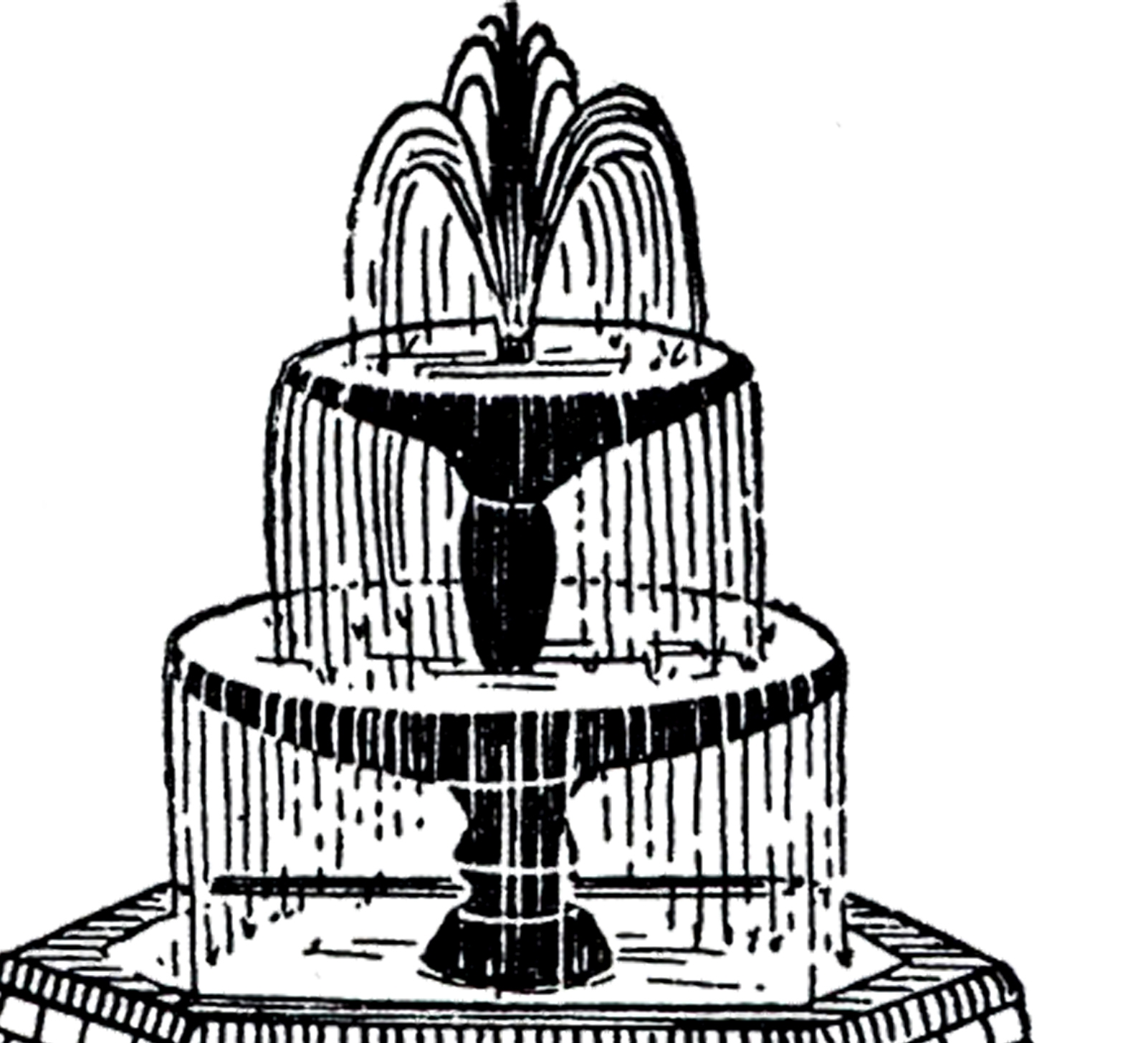 Fountain clipart. Unique gallery digital collection