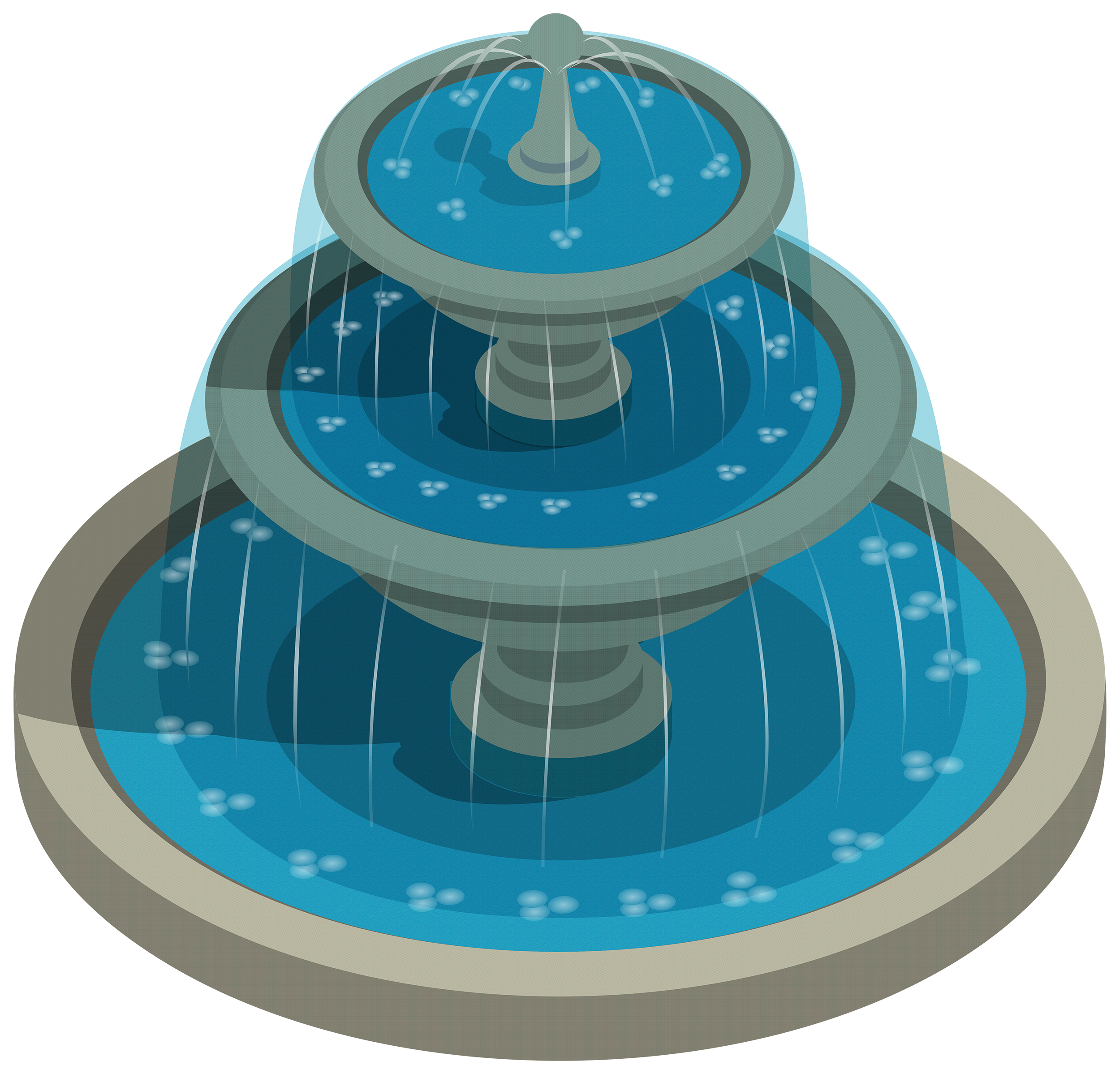 Round water png best. Fountain clipart