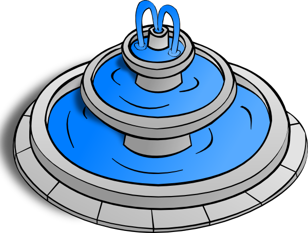 Water . Fountain clipart